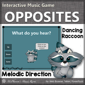 Melodic Direction {Up Down Same} - Interactive Music Game (raccoon)