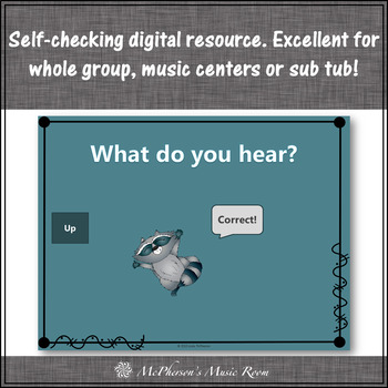 Melodic Direction: Up Down Same ~ Interactive Music Game {raccoon}