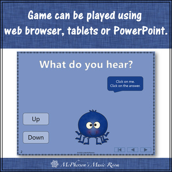 Melodic Direction Up and Down Dancing Spider {Interactive Music Game}