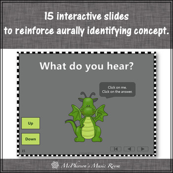 Melodic Direction: Up or Down - Interactive Music Game + Assessment (dragon)
