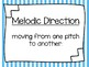Melodic Direction Wall Display