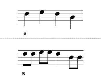 Melodic Flashcards Bundle Set 1 (Kodaly Classroom)