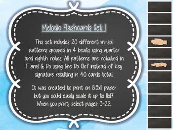 Melodic Flashcards Set 1 (M-S)