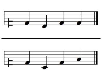 Melodic Flashcards Set 6 (S,-L,-D-R-M-S-L-D')