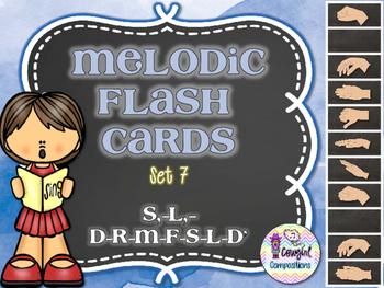Melodic Flashcards Set 7 (S,-L,-D-R-M-F-S-L-D')