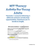 Melodic Intonation Therapy (MIT) Activity Plans For Adults
