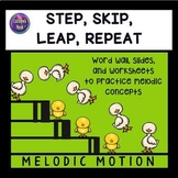 Melodic Direction Worksheets – Step, Skip, Leap, Repeat