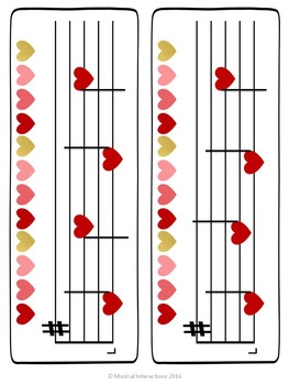 Melodic & Ostinato Composition Activities with Bulletin Board- Valentine's Day