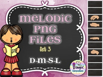 Melodic PNG Files Set 3 (D-M-S-L)