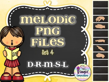 Melodic PNG Files Set 4 (D-R-M-S-L)