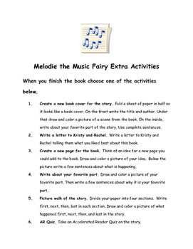 Rainbow Magic: Melodie the Music Fairy #2 by Daisy Meadows Comprehension Packet