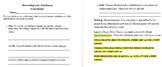 Melodrama Script Writing Rubric