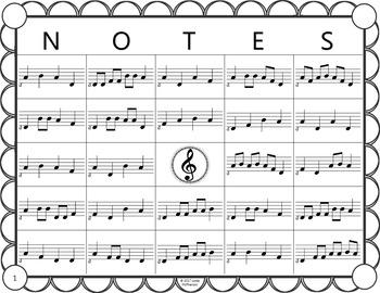 Melody Bingo Game {Do Mi Sol La} with Rhythm