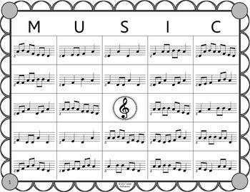 Melody Bingo Game {Do Re Mi Sol La} with Rhythm