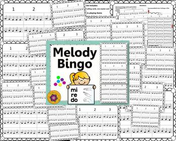 Melody Bingo Game {Do Re Mi} with Quarter Notes 3x3 grid