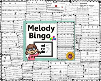 Melody Bingo Game {Do Re Mi} with Rhythm