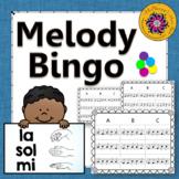 Melody Bingo Game ~ Sol Mi La Music Game {with Quarter Notes 3x3 grid}