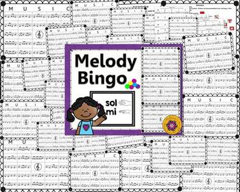 Melody Bingo Game {Sol Mi} with Rhythm