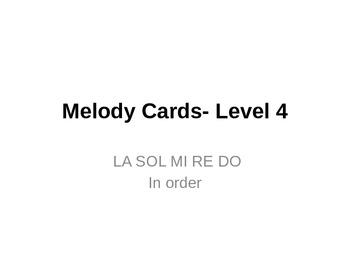 Melody Cards- Level 4 (LA SOL MI RE DO)