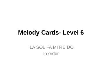 Melody Cards- Level 6 (LA SOL FA MI RE DO)