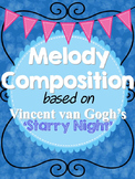 Melody Composition with Rubric based on van Gogh's 'Starry