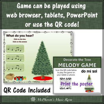 Christmas Music Game Do Mi Sol: Interactive Melody Game Decorate the Tree