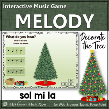 Melody: Decorate the Christmas Tree Interactive Music Game {Mi Sol La}