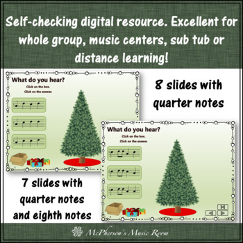 Christmas Music Game Mi Sol La: Interactive Melody Game Decorate the Tree