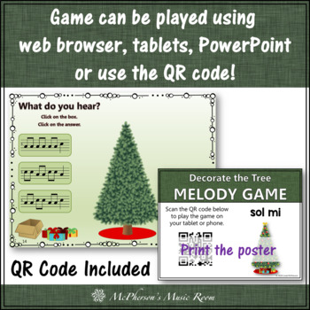 Christmas Music Game Sol Mi: Interactive Melody Game Decorate the Tree