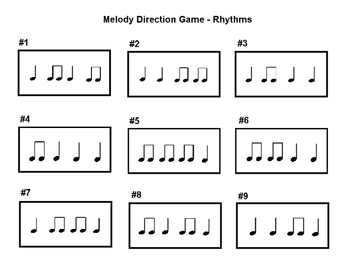 Melody Direction Board Game