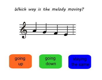 Melody Direction SMARTBoard Game - Identify by Sight