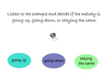 Melody Direction SMARTBoard Game - Identify by Sound