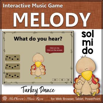 Thanksgiving Music Game Do Mi Sol {Interactive Melody Game} Turkey Dance