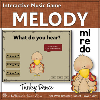 Thanksgiving Music Game Do Re Mi {Interactive Melody Game} Turkey Dance