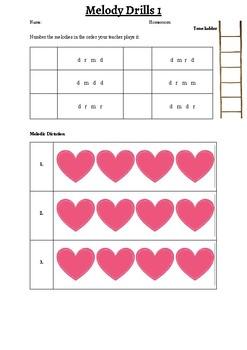 Melody Drills Worksheet 1