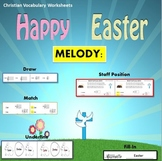 Melody: Easter Christian Vocabulary Theme 1: Match, Draw, Underline