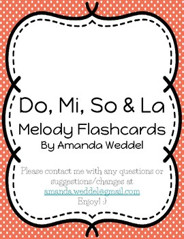 Melody Flashcards - Do, Mi, So & La
