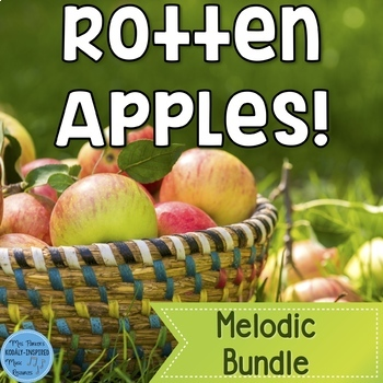 Melody Game and Manipulatives Bundle {Rotten Apples!}