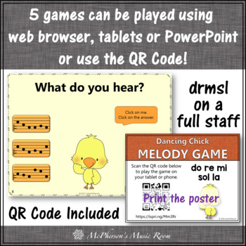 Melody Games Dancing Chicks Interactive Music Games {Bundle}