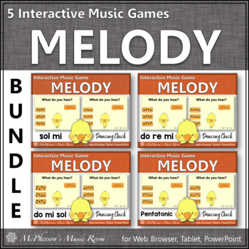 Spring Music Games: Interactive Melody Games Bundle {Dancing Chick}
