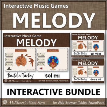 Thanksgiving Music Games {Interactive Melody Games Build a Turkey} Bundle