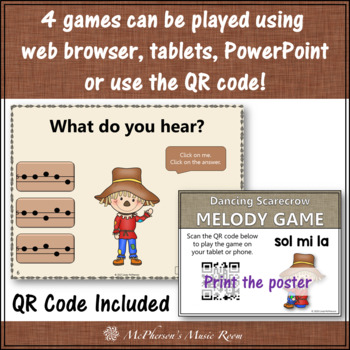 Melody Games Interactive Music Games Bundle {Dancing Scarecrow}
