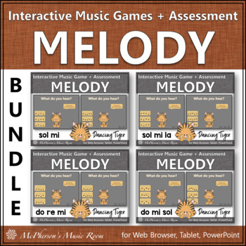 Melody Games Interactive Music Games and Assessments {Dancing Tiger}