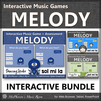 Melody Games {Sol Mi La Solfa} Interactive Music Bundle