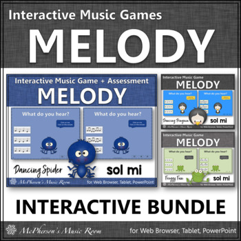 Melody Games {Sol Mi Solfa} Interactive Music Bundle