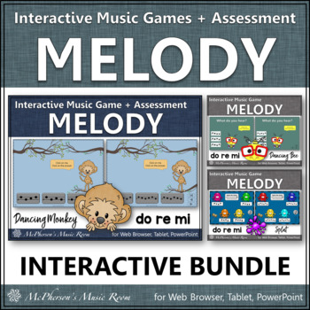 Melody Games for Do Re Mi Interactive Music Games and Assessment {Bundle}