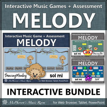 Melody Games for Sol Mi Interactive Music Games and Assessment {Bundle}