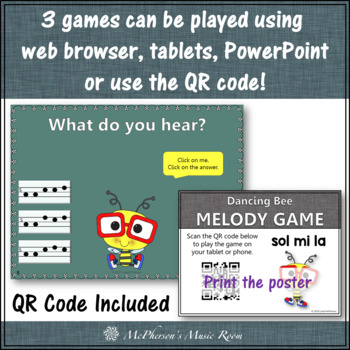 Melody Games for Sol Mi La Interactive Music Games and Assessment {Bundle}