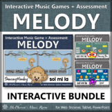 Sol Mi La Solfege   Interactive Music Games + Assessment {Distance Learning}