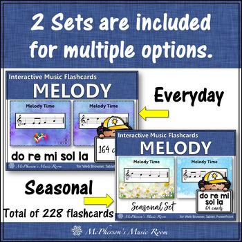 Melody Interactive Flash Cards {Do Re Mi Sol La}